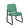 Armless Vinyl Guest / Reception Chair Teal